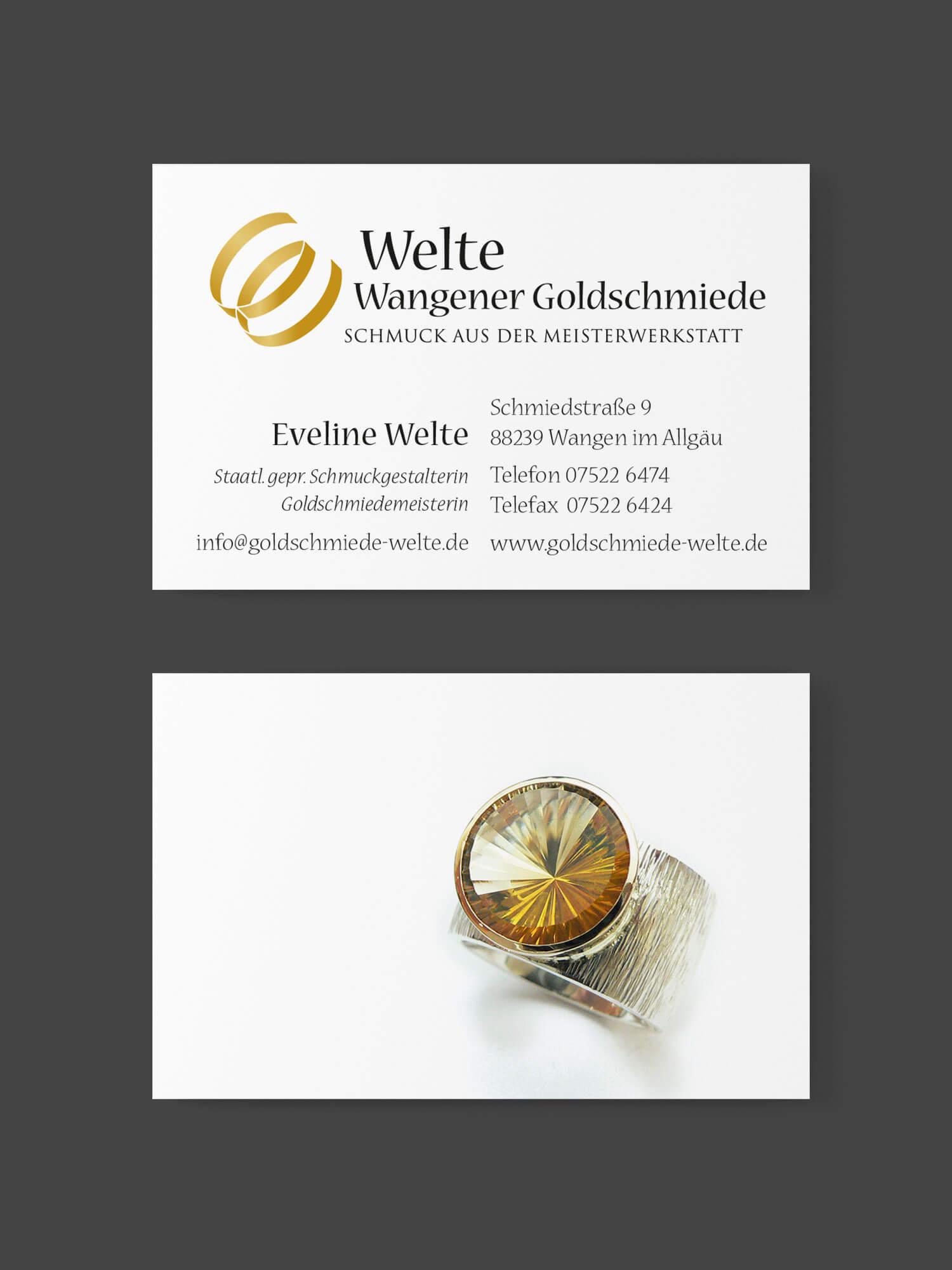 Visitenkarte Eveline Welte