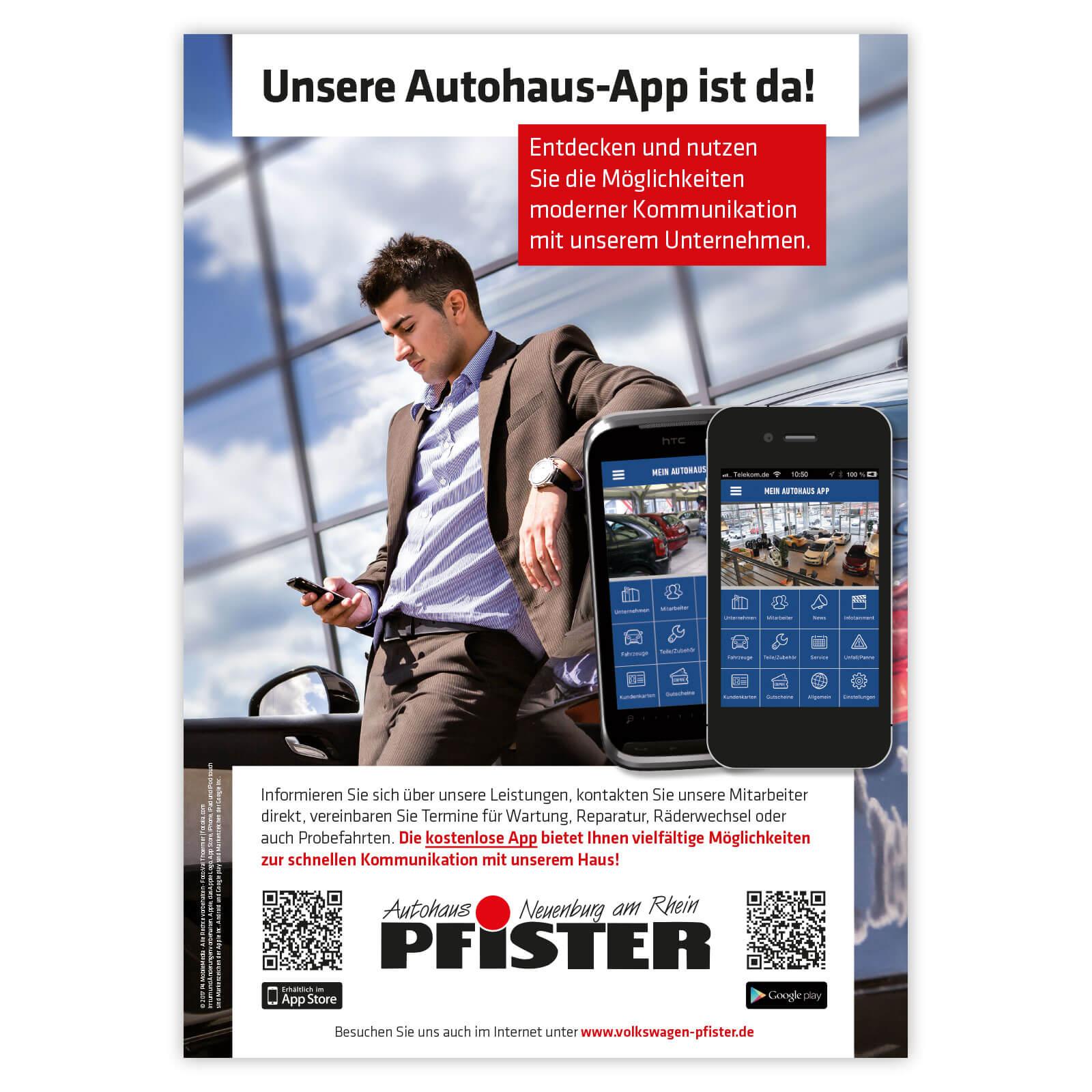 Plakat Mein Autohaus App