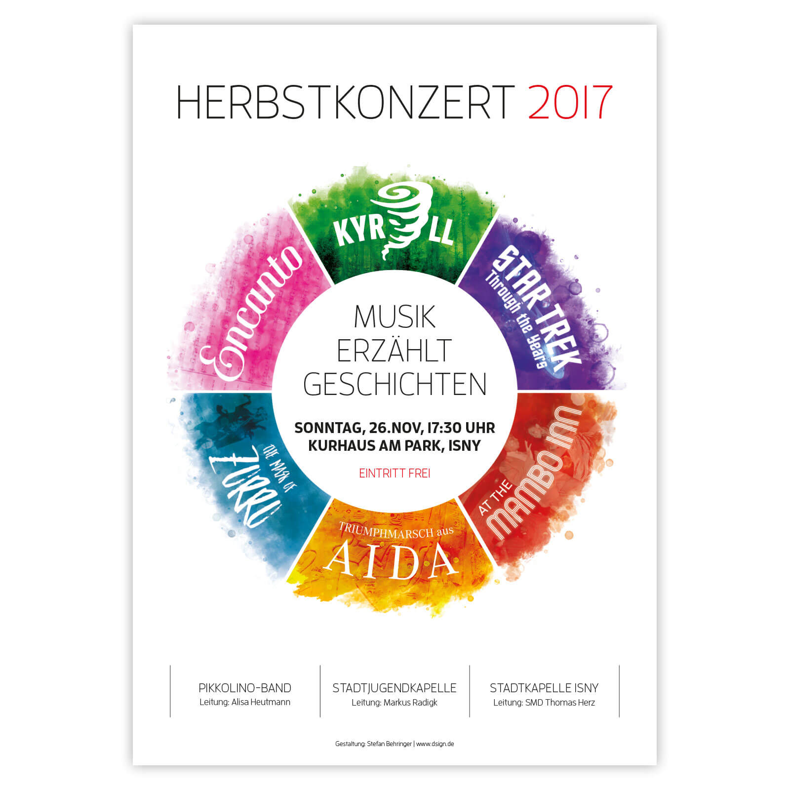 Plakat Herbstkonzert