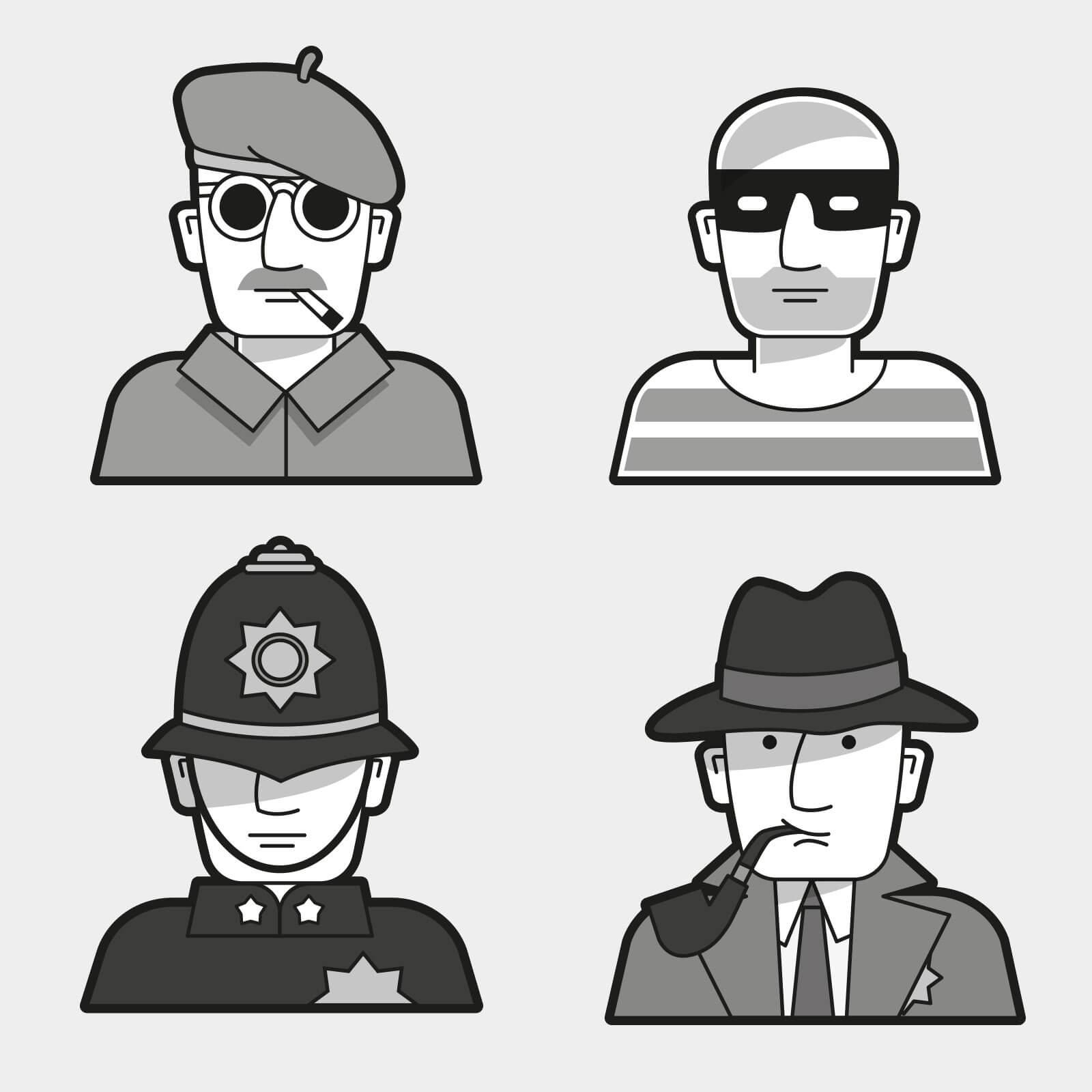 Grafik Räuber und Gendarme